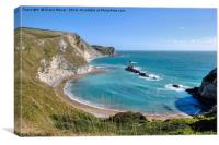 Man 'O War Bay, Dorset., Canvas Print