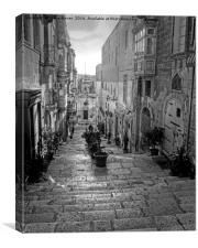 Valletta Street Malta, Canvas Print