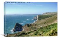 The South West Coast path  Dorset., Canvas Print