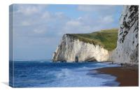Durdle Door Chalk cliffs, Canvas Print