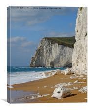 Durdle Door beach and  cliffs, Canvas Print