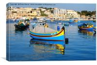 Marsaxlokk Harbour, Canvas Print