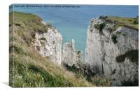 The Crumbling Dover Cliffs, Canvas Print