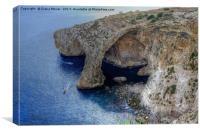 The Blue Grotto Malta , Canvas Print