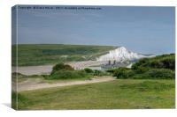 The Seven Sisters and The Cuckmere Valley, Canvas Print