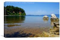 Vido Island Beach, Canvas Print
