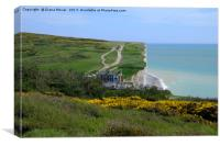 Birling Gap and The Seven Sisters , Canvas Print