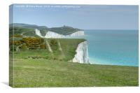 The Seven Sisters Cliffs Sussex., Canvas Print