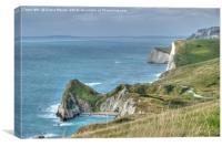 Man O' War Bay and the Jurrasic Coast, Canvas Print