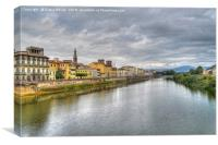The river Arno Florence., Canvas Print