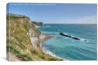 Man O' War Bay and the Jurasic Coast, Canvas Print