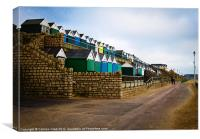 Southbourne Beach Huts, Canvas Print