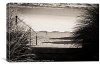 Shadow walking, Canvas Print