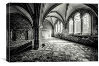 Lacock abbey cloister house, Canvas Print