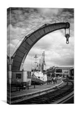 Industrial curves, Canvas Print