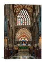 St Mary Redcliffe Altar Windows, Canvas Print