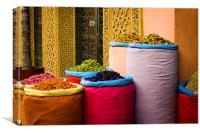 Moroccan colours, Canvas Print