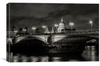 St Pauls and Blackfriars Bridge., Canvas Print