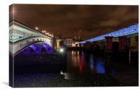 Blackfriars bridge, Canvas Print