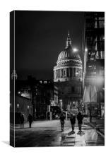 St Pauls street life London, Canvas Print