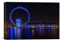 London Eye and Aquarium, Canvas Print