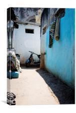 Indian back street, Charminar, Canvas Print