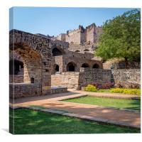 Golkonda fort walls, Canvas Print