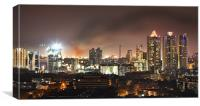 Fire Mumbai Night sky, Canvas Print