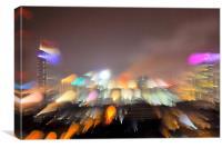 Torch trails over Mumbai, Canvas Print