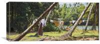 Wash day Jungle Blues, Canvas Print
