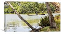 Kerala Backwaters taxi infrastructure, Canvas Print