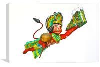 1 0f 4 Lord Hanuman Hindu monkey god, Canvas Print