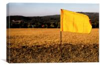 Golf drive hundred metre flags, Canvas Print