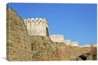 Turrets Kumbhalghar Fort Rajasthan, Canvas Print