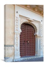 Doorway inside palace Kumbhalgarh Fort, Canvas Print