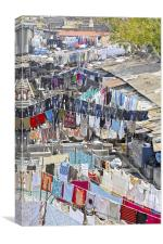 Dhobhi Ghat Mumbai laundry Patterns, Canvas Print