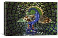 Peacok Mosaic indigenous art, Canvas Print
