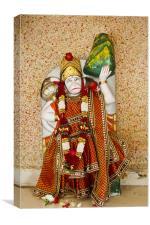 Hanuman Monkey god Dhatva Temple, Canvas Print