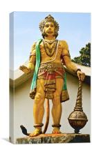 statue of Hanuman at dharumsala, Canvas Print