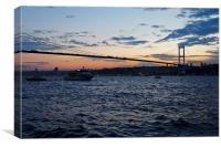 Sundown over Bosphorus and Bogazici Istanbul, Canvas Print