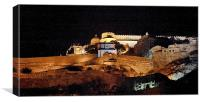 Panorama Kumbhalghar Fort at night, Canvas Print