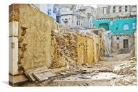 Almost war torn at Shri Nathji Rajasthan, Canvas Print