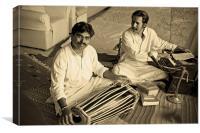 Hanumant Ghadge tabla player with Manoj Desai, Canvas Print