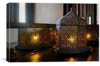 Oriental light table lamp corner table, Canvas Print
