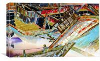 Boat Graveyard India Texture, Canvas Print