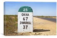 Ok Ha 67 Dwarka 37 SH 25, Canvas Print