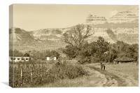 Valley of Sahyadri Mountains, Canvas Print