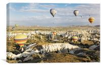 Gorgious hot air balloons, Canvas Print