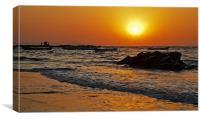 Manori Surf and Sunset, Canvas Print