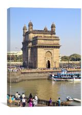 India Gateway from Taj Ocean View, Canvas Print